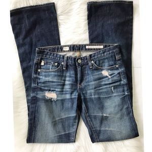 AG Jeans Angel Distressed Boot Cut Jeans